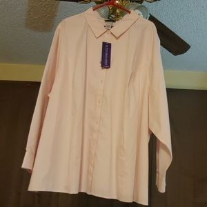 Catherine's Light Pink Button Down Shirt 4X(30/32)